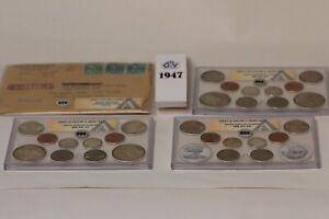 1947 ANACS DOUBLE MINT SETS  AS ISSUED CERTIFIED ORIGINAL     P, D , AND S MINTS