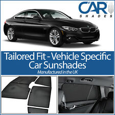 BMW 4 Series 2dr 2014> UV CAR SHADES WINDOW SUN BLINDS PRIVACY GLASS TINT BLACK