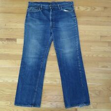 VINTAGE ORIGINAL JEANS LEVIS BIG E ZIPPER SINGLE STITCH W40 L32 BUTTON #8 DENIM
