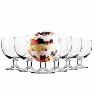 Krosno Eisbecher Eisschale Dessertschale Fruchtgeleeschale   Set von 6   380 ML