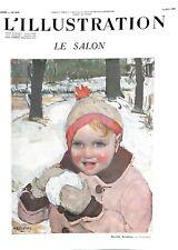 Enfant boule de neige Le Salon par Marcelle Rondenay peintre ILLUSTRATION 1939
