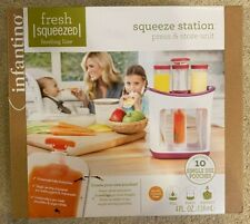 Infantino Baby Fresh Food Squeeze Station Kit 10 Storage Pouches on the Go