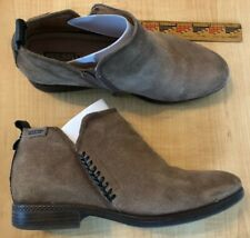 Pikolinos tan leather suede Ordino low ankle boots Size 40 Contrast whip stitch