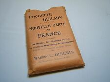 Vintage Collectible Pochette Guilmin Nouvelle Carte De France Atlas Map