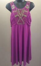 Apt 9 Beautiful Soft purple short sleeve beaded Dress Size medium