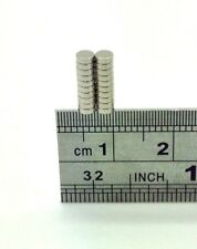 20 TINY VERY SMALL SUPER STRONG DISC MAGNETS N52 GRADE 3MM X 1MM FROM THE UK!!