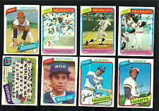 1978, 1979, & 1980 TOPPS BASEBALL - Complete Your Set (U PICK 30) - - EXMT-NM