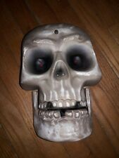 rare large Gemmy Skull greeter Wall Hanger Electronic talking Halloween Prop