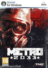 METRO 2033 First Person Shooter for PC XP/VISTA/7 SEALED NEW