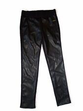 Michael Kors Faux Front Leather PANTS leggings Black Size Small