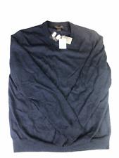 Men's 100% Merino Wool Sweater New Steel Blue Large