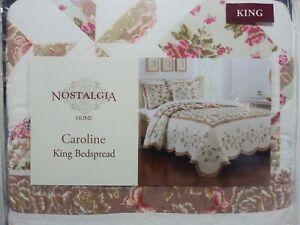 BRAND NEW NOSTALGIA HOME CAROLINE KING SIZE BEDSPREAD