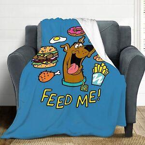 "Scooby Doo Ultra-Soft Lightweight Fleece Blankets for Kids Adults 80""x60""  NEW"