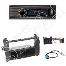 Caliber RMD212 Radio + Mercedes A/B Kl. 2-DIN Blende schwarz + ISO Adapter