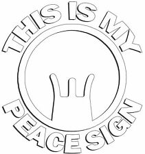 Peace Sign Gun Sights M1 Garand Ak47 M16 Military 2nd Amendment Vinyl Car Decal