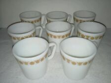Set of Eight  PYREX Coffee Mugs