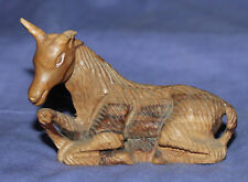 Vintage small hand carved wood horse figurine