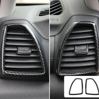 For Hyundai Tucson 2019 Carbon Fiber ABS Inner Front Side Air Vent Outlet Cover