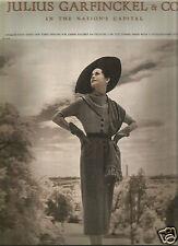 40's Toni Frissell Photographed Julius Garfinckel & Co. Ad