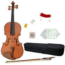 High Quality Material Natural 1/4 Size Acoustic Violin Set w/ Fiddle Accessories