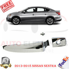 Front Driver Side Chrome Door Handle For 2013-2018 Sentra / 2009-2014 Murano