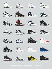 "TY02673 Michael Jordan Nike Air Jordan Brand Hot Canvas Big 14""x19"" Poster"