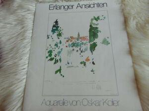 Oskar Koller - 5 x Aquarelle - Erlanger Ansichten in einer Mappe
