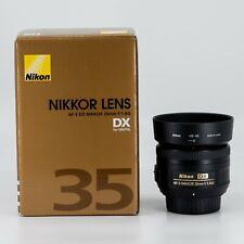 Nikon Nikkor AF-S DX 35 mm f/1.8G Lens  - Lightly Used - Great Condition
