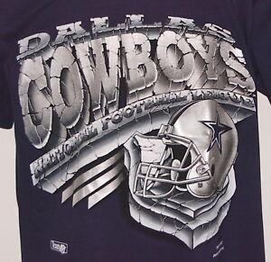 Vintage 1993 NFL DALLAS COWBOYS Magic Johnson T's T-Shirt BLUE NWT NEW Old Stock