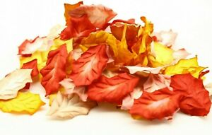 50x Mulberry Paper Orange  Mix Holly Leaves flowers Paper crafts Embellishments
