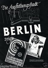 Ausstellung Berlin GDK 1938 Reklame Gesundes Leben Frohes Schaffen Werbung Haase