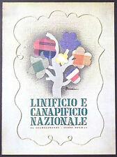 ADVERTISING PUBBLICITA' 1941 - LINIFICIO E CANAPIFICIO NAZIONALE - 1941