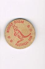 Vintage Wooden Nickel Dollar Australia 1984 FBC Children's Choir Fairmont, NC