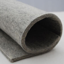 100% Wool Felt Fabric - 5mm - Made in Europe Natural Light Grey 92cm x 0.5 Metre