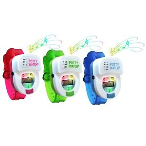 Potty Time Watch Toddler Toilet Training Aid Timer Reminder Pink, Green or Blue