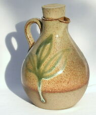 One of a Kind Olive Oil Pitcher Ceramic Jar, Hand Made in Israel, Pottery Art