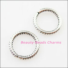 25Pcs Tibetan Silver Round Circle Open Spacer Beads Charms 13.5mm