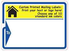 """Custom Printed Shipping Labels, 10,000 1-Color Mailing Stickers 3"""" x 4"""" on rolls"""
