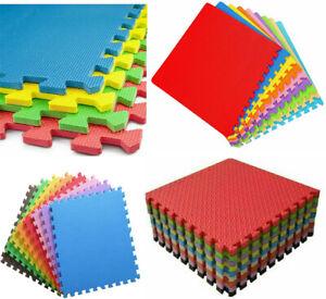 Eva Interlocking 8Pcs Soft Kid's Activity Foam Play Mat Gym Tiles Floor 60x60cm