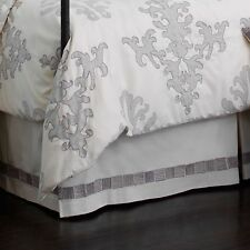 UPSTAIRS DRANSFIELD ROSS ANTIGUA 1 KING SIZE BED SKIRT DUST RUFFLE IVORY