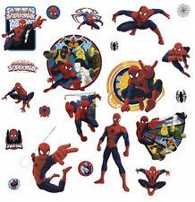 Ultimate SPIDERMAN and Team Hero wall stickers 21 decals Marvel superhero