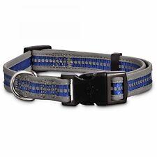 Good2Go Reflective Adjustable Dog Collar in Blue, Medium By: Good2Go