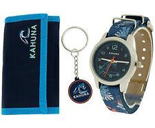 Kahuna Boys/ Girls Blue Surf Kids Watch, Key Ring and Wallet Gift Set AKKS-0005M