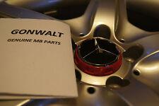 Mercedes Benz B CLA GLA E ML GL Raised wheel Rim Cap Ember Red / Black Genuine