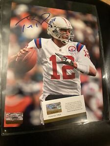 Tom Brady Autographed Signed 8X10 Tampa Bay With COA Patriots Goat MVP