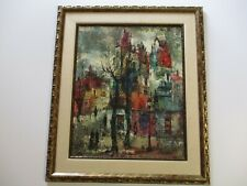 IMPRESSIVE Maurille Prevost  PAINTING FRANCE PARIS URBAN MODERNISM ABSTRACT CITY