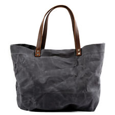 Waxed Canvas Shoulder Tote Bag Travel Handbags Water Repellent Oversize Yoga