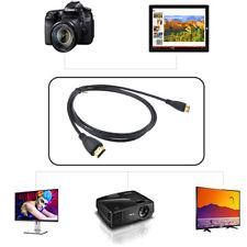 PwrON Mini HDMI A/V TV Video Cable for Panasonic Lumix DMC-3D1 DMC-FZ60 DMC-GH3