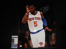 TIM HARDAWAY JR. NEW YORK KNICKS SIGNED 16X20 PHOTO JSA COA K62183 NEW! WHITE