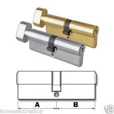 Thumb Turn Euro Cylinder Door Lock Anti Drill, Pick, Bump - uPVC, Patio (TRCYL)